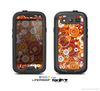 The Abstract Vector Gold & White Circle Swirls Skin For The Samsung Galaxy S3 LifeProof Case