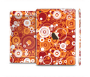 The Abstract Vector Gold & White Circle Swirls Full Body Skin Set for the Apple iPad Mini 3