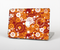 The Abstract Vector Gold & White Circle Swirls Skin Set for the Apple MacBook Air 11""