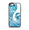 The Abstract Vibrant Blue Swirled Apple iPhone 5-5s Otterbox Symmetry Case Skin Set