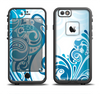 The Abstract Vibrant Blue Swirled Apple iPhone 6/6s Plus LifeProof Fre Case Skin Set