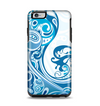 The Abstract Vibrant Blue Swirled Apple iPhone 6 Plus Otterbox Symmetry Case Skin Set