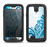 The Abstract Vibrant Blue Swirled Samsung Galaxy S4 LifeProof Nuud Case Skin Set