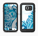 The Abstract Vibrant Blue Swirled Full Body Samsung Galaxy S6 LifeProof Fre Case Skin Kit