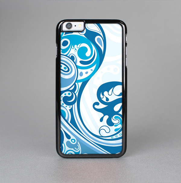The Abstract Vibrant Blue Swirled Skin-Sert Case for the Apple iPhone 6 Plus