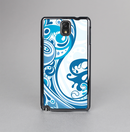 The Abstract Vibrant Blue Swirled Skin-Sert Case for the Samsung Galaxy Note 3