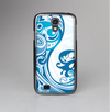 The Abstract Vibrant Blue Swirled Skin-Sert Case for the Samsung Galaxy S4