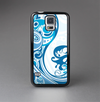 The Abstract Vibrant Blue Swirled Skin-Sert Case for the Samsung Galaxy S5