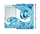 The Abstract Vibrant Blue Swirled Full Body Skin Set for the Apple iPad Mini 3