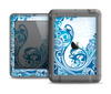 The Abstract Vibrant Blue Swirled Apple iPad Mini LifeProof Nuud Case Skin Set