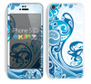 The Abstract Vibrant Blue Swirled Skin for the Apple iPhone 5c