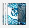The Abstract Vibrant Blue Swirled Skin for the Apple iPhone 6