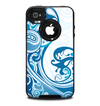 The Abstract Vibrant Blue Swirled Skin for the iPhone 4-4s OtterBox Commuter Case