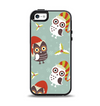 The Abstract Vintage Christmas Owls Apple iPhone 5-5s Otterbox Symmetry Case Skin Set