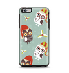 The Abstract Vintage Christmas Owls Apple iPhone 6 Plus Otterbox Symmetry Case Skin Set