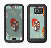 The Abstract Vintage Christmas Owls Full Body Samsung Galaxy S6 LifeProof Fre Case Skin Kit
