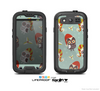 The Abstract Vintage Christmas Owls Skin For The Samsung Galaxy S3 LifeProof Case