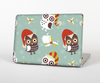 The Abstract Vintage Christmas Owls Skin Set for the Apple MacBook Air 11""