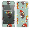 The Abstract Vintage Christmas Owls Skin for the Apple iPhone 5c