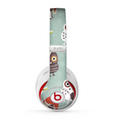 The Abstract Vintage Christmas Owls Skin for the Beats by Dre Studio (2013+ Version) Headphones