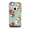 The Abstract Vintage Christmas Owls Skin for the iPhone 5c OtterBox Commuter Case