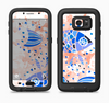 The Abstract White and Blue Fish Fossil Full Body Samsung Galaxy S6 LifeProof Fre Case Skin Kit