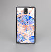 The Abstract White and Blue Fish Fossil Skin-Sert Case for the Samsung Galaxy Note 3
