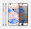 The Abstract White and Blue Fish Fossil Skin for the Apple iPhone 6