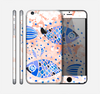 The Abstract White and Blue Fish Fossil Skin for the Apple iPhone 6 Plus