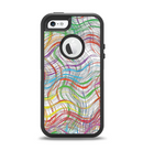 The Abstract Woven Color Pattern Apple iPhone 5-5s Otterbox Defender Case Skin Set