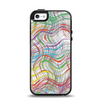 The Abstract Woven Color Pattern Apple iPhone 5-5s Otterbox Symmetry Case Skin Set
