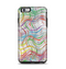 The Abstract Woven Color Pattern Apple iPhone 6 Plus Otterbox Symmetry Case Skin Set