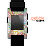 The Abstract Woven Color Pattern Skin for the Pebble SmartWatch