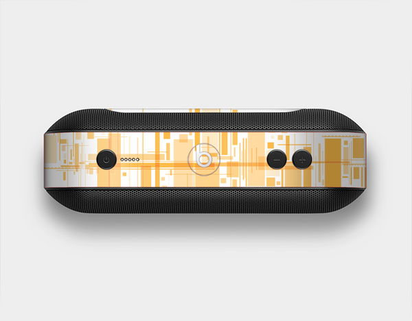 The Abstract Yellow Skyline View Skin Set for the Beats Pill Plus