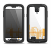 The Abstract Yellow Skyline View Samsung Galaxy S4 LifeProof Fre Case Skin Set
