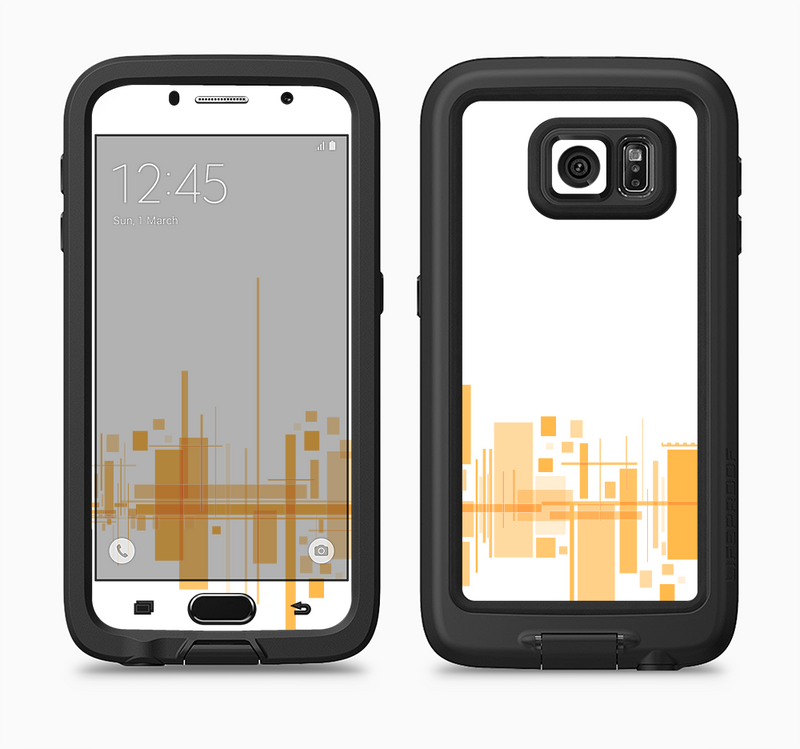 The Abstract Yellow Skyline View Full Body Samsung Galaxy S6 LifeProof Fre Case Skin Kit
