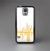 The Abstract Yellow Skyline View Skin-Sert Case for the Samsung Galaxy S5