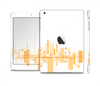 The Abstract Yellow Skyline View Skin Set for the Apple iPad Mini 4