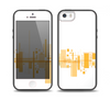 The Abstract Yellow Skyline View Skin Set for the iPhone 5-5s Skech Glow Case