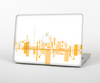 The Abstract Yellow Skyline View Skin Set for the Apple MacBook Air 11""