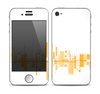The Abstract Yellow Skyline View Skin for the Apple iPhone 4-4s