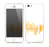 The Abstract Yellow Skyline View Skin for the Apple iPhone 5s