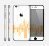 The Abstract Yellow Skyline View Skin for the Apple iPhone 6