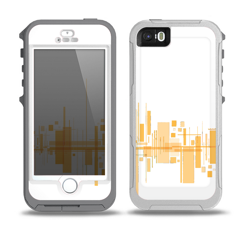 The Abstract Yellow Skyline View Skin for the iPhone 5-5s OtterBox Preserver WaterProof Case