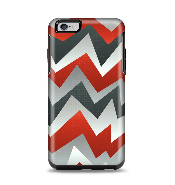 The Abstract ZigZag Pattern v4 Apple iPhone 6 Plus Otterbox Symmetry Case Skin Set