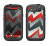 The Abstract ZigZag Pattern v4 Samsung Galaxy S4 LifeProof Nuud Case Skin Set