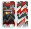 The Abstract ZigZag Pattern v4 Skin for the Apple iPhone 5c
