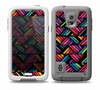 The Abstract Zig Zag Color PatternSkin for the Samsung Galaxy S5 frē LifeProof Case