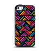 The Abstract Zig Zag Color Pattern Apple iPhone 5-5s Otterbox Symmetry Case Skin Set