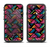 The Abstract Zig Zag Color Pattern Apple iPhone 6/6s Plus LifeProof Fre Case Skin Set